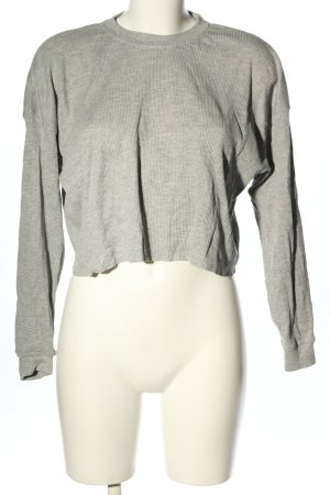 Pull & Bear Cropped Shirt hellgrau Casual-Look
