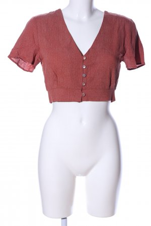 Pull & Bear Cropped Shirt rot meliert Casual-Look