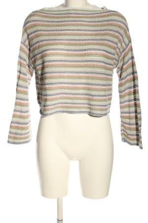 Pull & Bear Camisa recortada estampado a rayas look casual