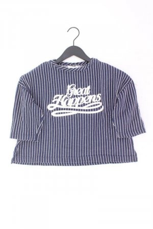 Camicia cropped blu-blu neon-blu scuro-azzurro Cotone