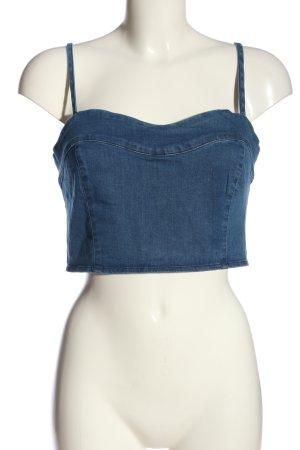 Pull & Bear Cropped Top blau Casual-Look