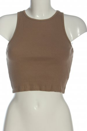 Pull & Bear Cropped top bruin gestreept patroon casual uitstraling