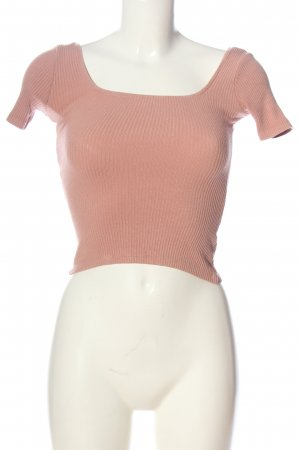 Pull & Bear Cropped Top pink Casual-Look