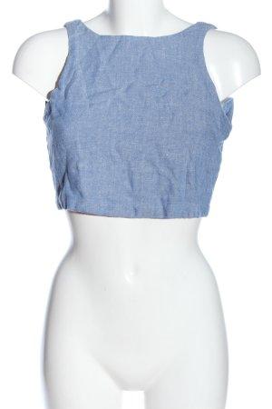 Pull & Bear Crop-top bleu style décontracté