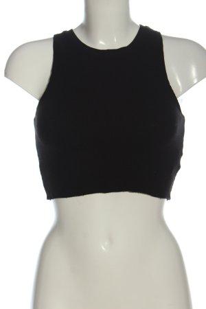 Pull & Bear Cropped top zwart gestreept patroon casual uitstraling