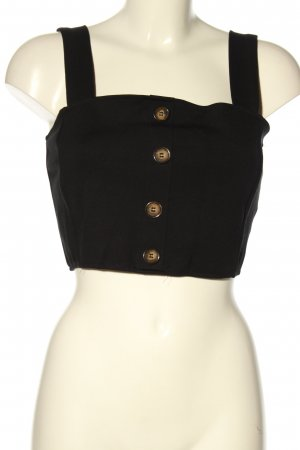 Pull & Bear Cropped Top schwarz Casual-Look