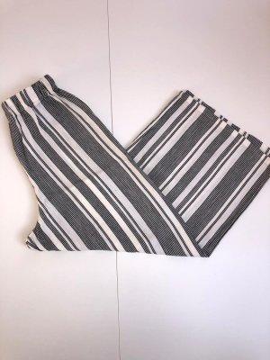Pull & Bear Pantalone culotte nero-bianco sporco
