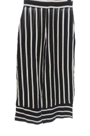 Pull & Bear Falda pantalón de pernera ancha negro-blanco estampado a rayas
