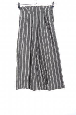 Pull & Bear Culottes light grey-white striped pattern casual look