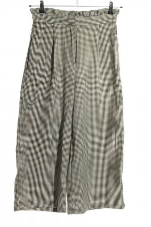 Pull & Bear Falda pantalón de pernera ancha negro-blanco estampado a cuadros