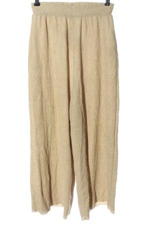 Pull & Bear Falda pantalón de pernera ancha crema look casual