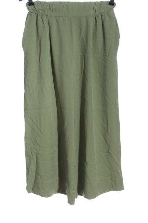 Pull & Bear Falda pantalón de pernera ancha caqui look casual