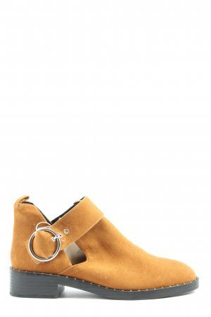 Pull & Bear Cut-Out-Stiefeletten hellorange Casual-Look