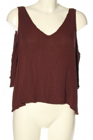 Pull & Bear Cut out top bruin casual uitstraling