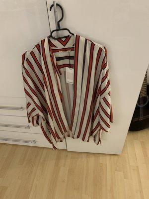 Pull & Bear Blazer en jersey rouge-blanc