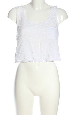 Pull & Bear Haut taille empire blanc style décontracté