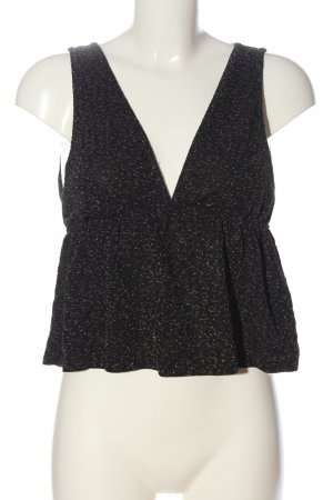 Pull & Bear Haut taille empire noir-argenté style décontracté