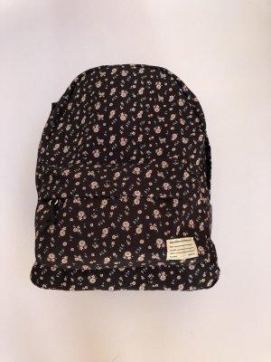 Pull & Bear School Backpack black-pink