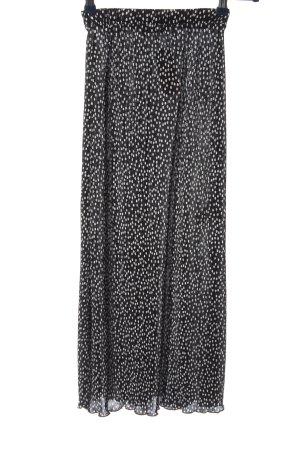 Pull & Bear Faltenrock schwarz-weiß Punktemuster Casual-Look