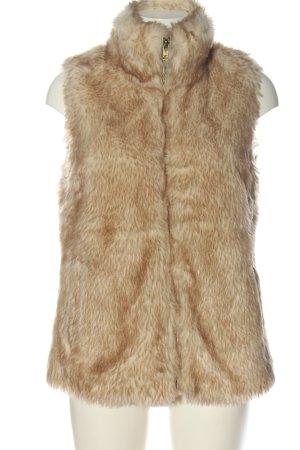 Pull & Bear Fur vest nude flecked casual look