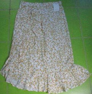 Pull & Bear Wraparound Skirt white viscose