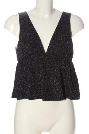 Pull & Bear Empire Waist Top schwarz-silberfarben Casual-Look