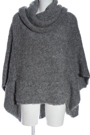 Pull & Bear Pull à gosses mailles gris clair style décontracté