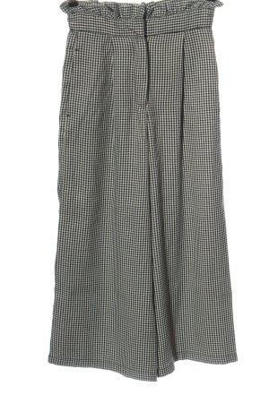 Pull & Bear Pantalone a vita alta nero-bianco motivo a quadri stile casual