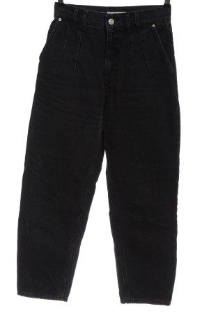 Pull & Bear High-Waist Hose schwarz Casual-Look