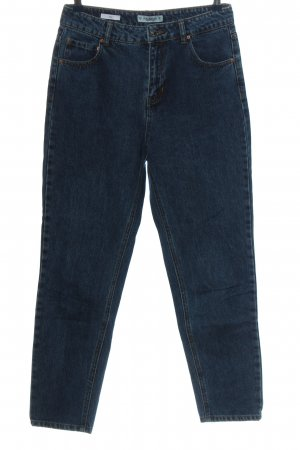 Pull & Bear Hoge taille broek blauw casual uitstraling