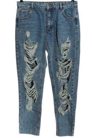 Pull & Bear High Waist Jeans blau Casual-Look