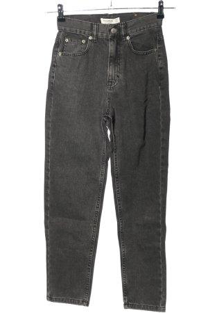 Pull & Bear High Waist Jeans schwarz Casual-Look