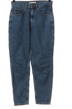 Pull & Bear Jeans taille haute bleu style décontracté
