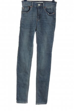 Pull & Bear Hoge taille jeans blauw casual uitstraling