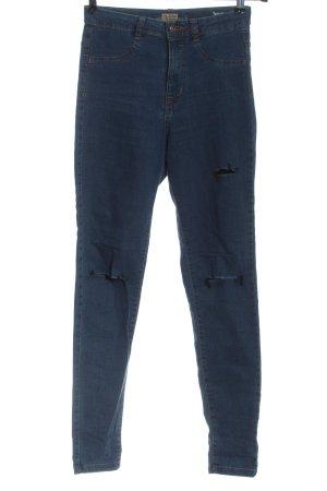 Pull & Bear Jeans a vita alta blu stile casual