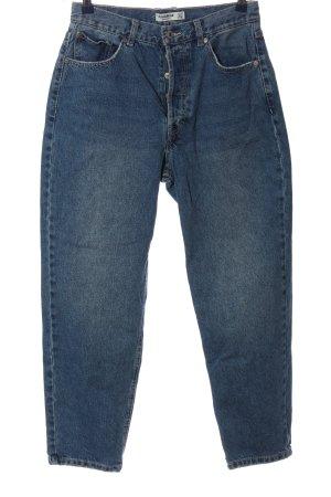 Pull & Bear Jeansy z wysokim stanem niebieski W stylu casual