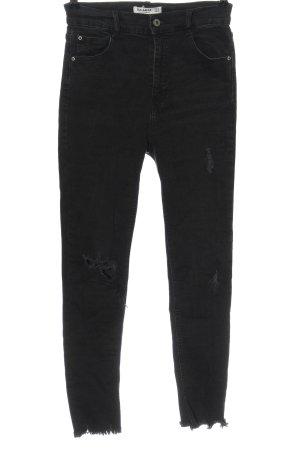 Pull & Bear Jeans a vita alta nero stile casual