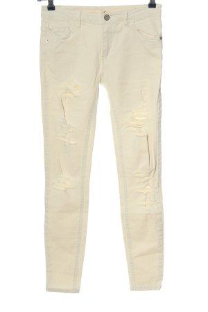 Pull & Bear High Waist Jeans wollweiß Casual-Look
