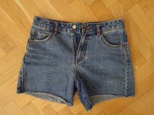Pull & Bear Short en jean bleu fibre textile