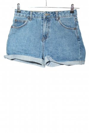 "Pull & Bear High-Waist-Shorts ""W-4fkzpf"" blue"