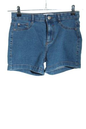 Pull & Bear High-Waist-Shorts blau Casual-Look