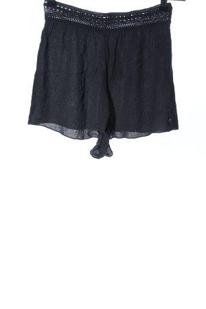 Pull & Bear High-Waist-Shorts schwarz Casual-Look
