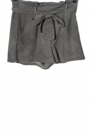 Pull & Bear High-Waist-Shorts hellgrau-weiß Allover-Druck Casual-Look
