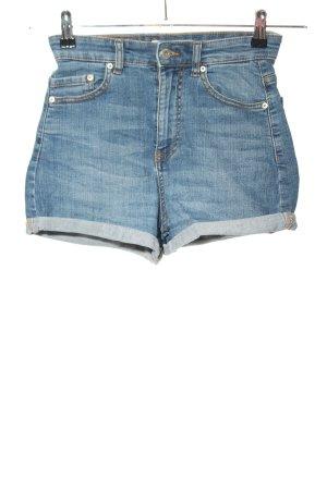 """Pull & Bear High-Waist-Shorts """"W-7lnzwy"""" blue"""