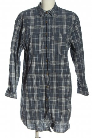 Pull & Bear Holzfällerhemd hellgrau-weiß Allover-Druck Business-Look