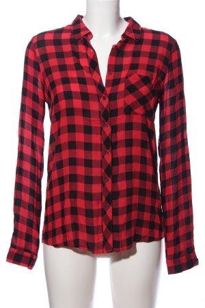 Pull & Bear Houthakkershemd rood-zwart volledige print zakelijke stijl