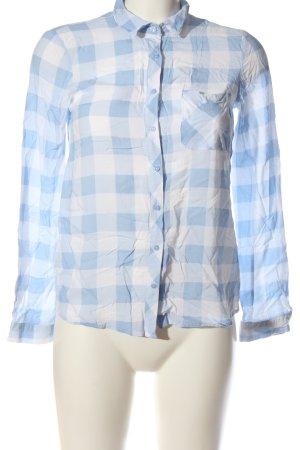 Pull & Bear Holzfällerhemd blau-weiß Karomuster Casual-Look