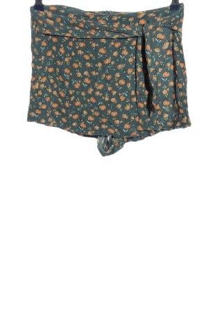 Pull & Bear Falda pantalón caqui-naranja claro look casual