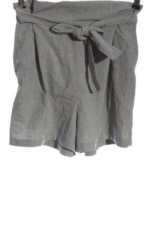 Pull & Bear Pantalón corto gris claro Patrón de tejido elegante