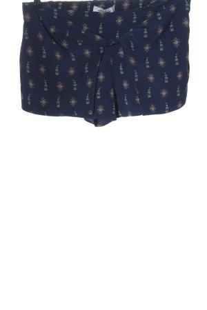 Pull & Bear Hot Pants abstraktes Muster Casual-Look